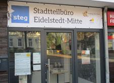 Eingang vom Stadtteilbüro Eidelstedt-Mitte