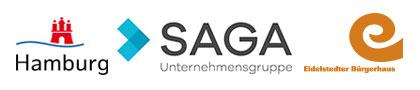 Förderer der Website: Stadt Hamburg, SAGA Unternehmensgruppe, Eidelstedter Bürgerhaus