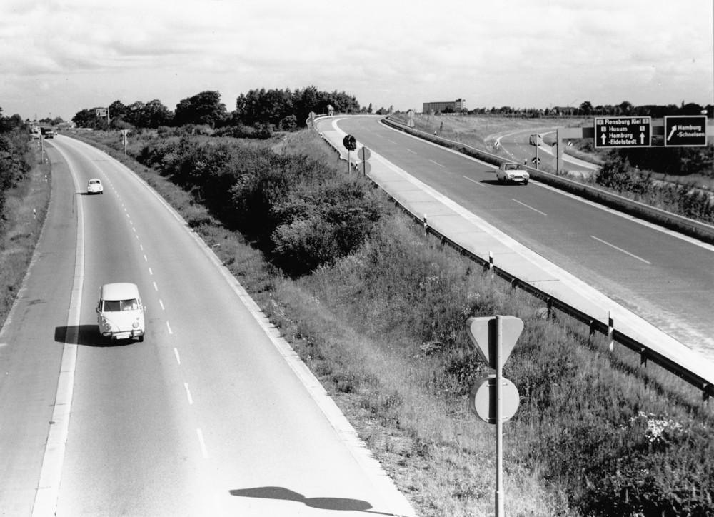Autobahn in de1960er Jahren