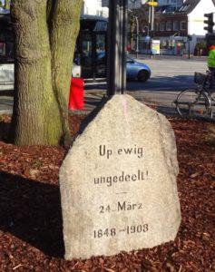 Gedenkstein Up ewig ungedeelt